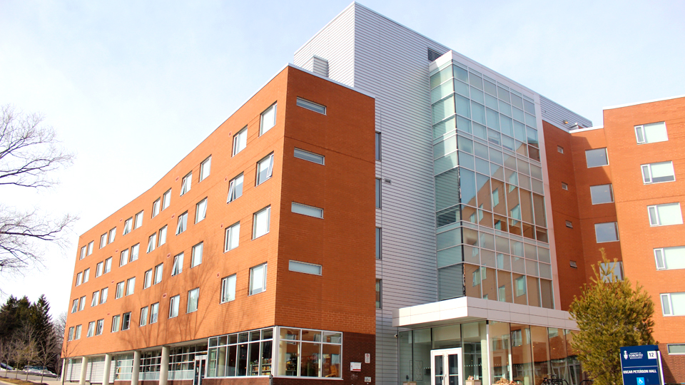 This image shows one of the Student housing buildings located on the UTM campus.